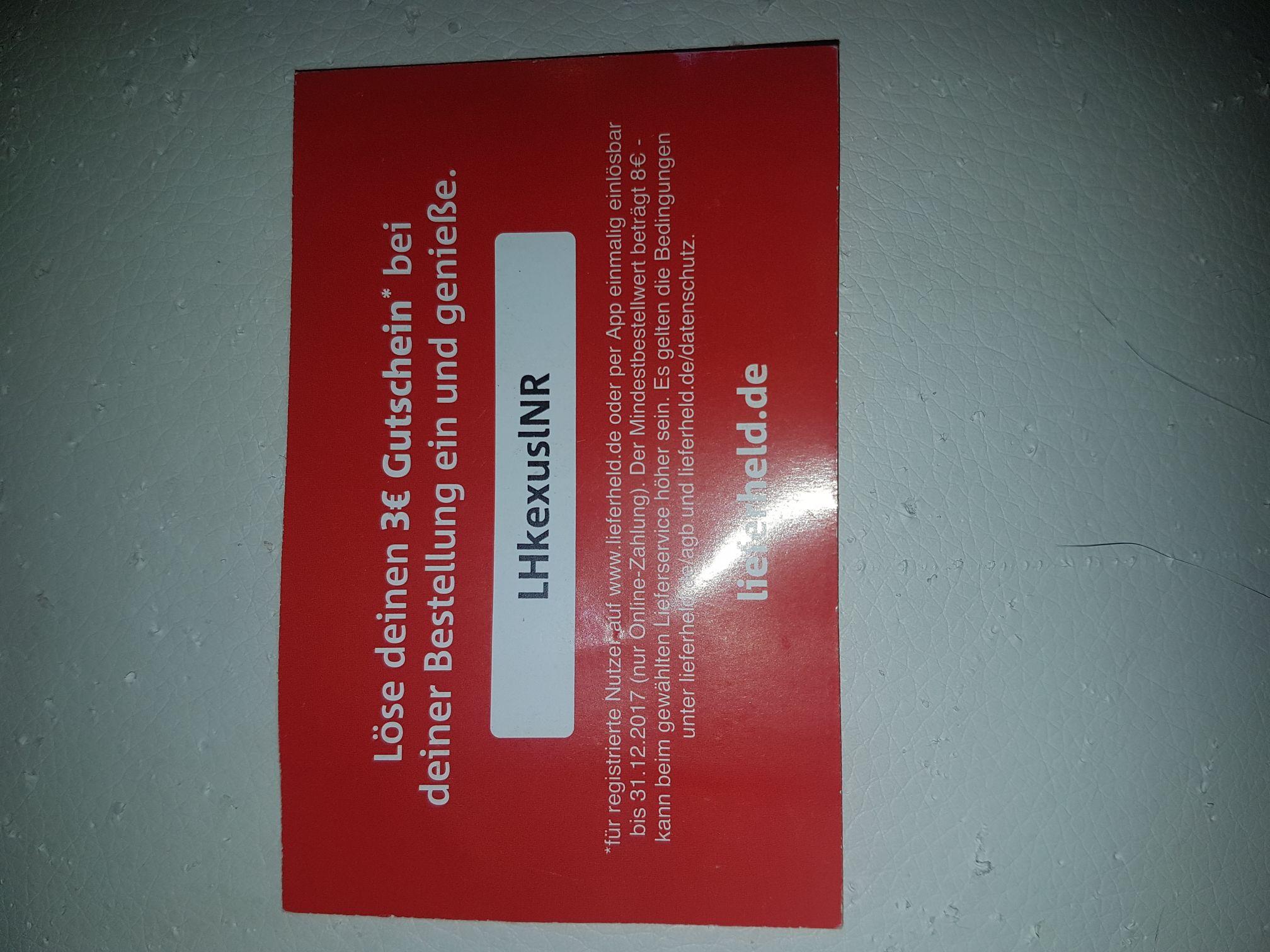 3€ Gutschein mit 8€ MBW für Bestandskunden