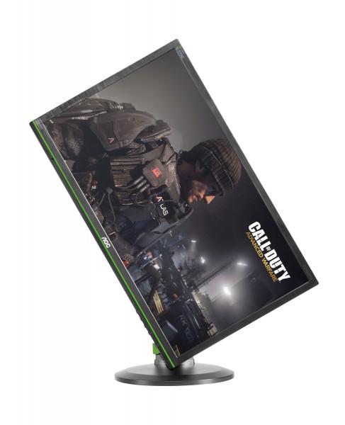 "AOC G2460PG für 299€ - 24"" FullHD, 144Hz, Nvidia G-Sync, 1ms Reaktionszeit, Pivot, Swivel, USB-Hub"