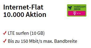 [Media Markt] MD Telekom 10GB LTE Datenflat rechnerisch für 10,20€ mtl. durch MediaMarkt Coupon