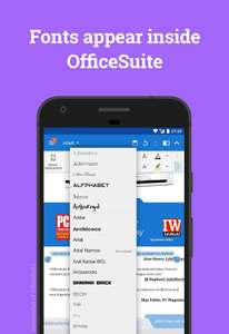 [Android] Font Pack for OfficeSuite kostenlos statt 5,49€