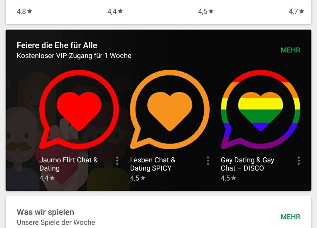 [Play Store] Feier die Ehe für alle