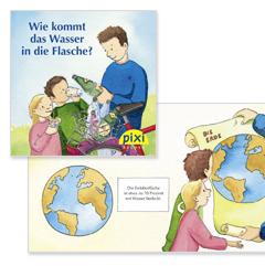 """Kostenloses Pixie Buch für Kinder mit dem Titel """"Wie kommt das Wasser in die Flasche?"""""""