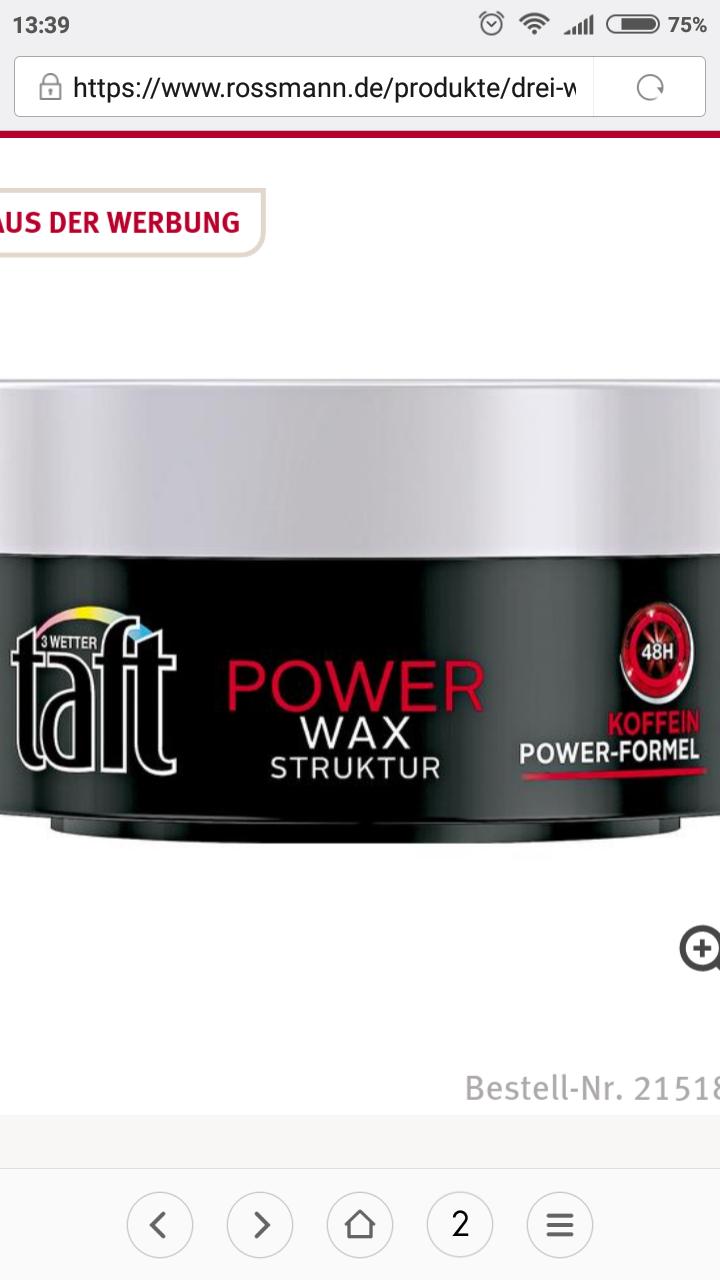 [Rossmann]Drei Wetter Taft Power Wax Struktur oder Power Styling Gel 1,07€ bzw. 1,19€