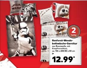 [Kaufland] [30.10. - 01.11.] Star Wars 8 Stormtrooper & BB-8 Renforcé-Bettwäsche 2-teilig