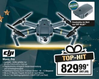 [Metro] [02.11. - 08.11.] DJI Mavic Pro 4k UltraHD Drohne + Zusatzakku für 987,69€ anstatt 1035,02€