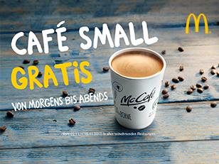 Gratis Kaffee bei MC Donald's 2.11-15.11.