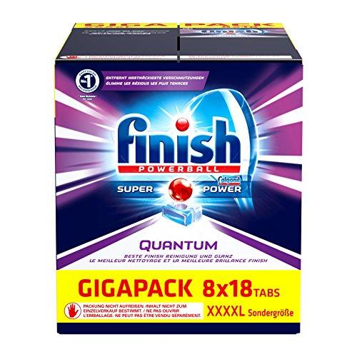 [Amazon] Finish Calgonit Quantum, Spülmaschinentabs, Gigapack, 1er Pack (1 x 144 Stück)