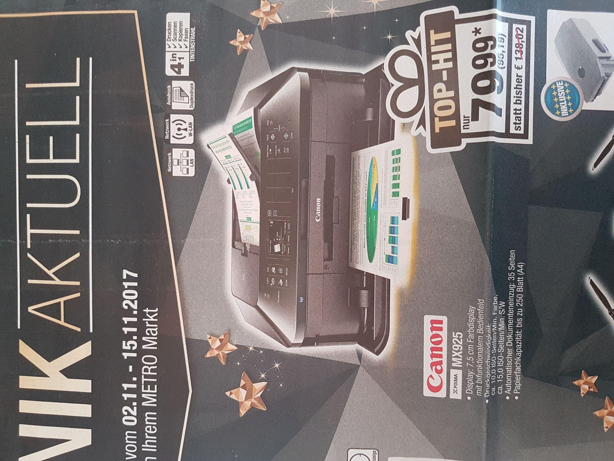 [Metro] Canon Pixma MX925 Multifunktions Tintenstrahl Drucker