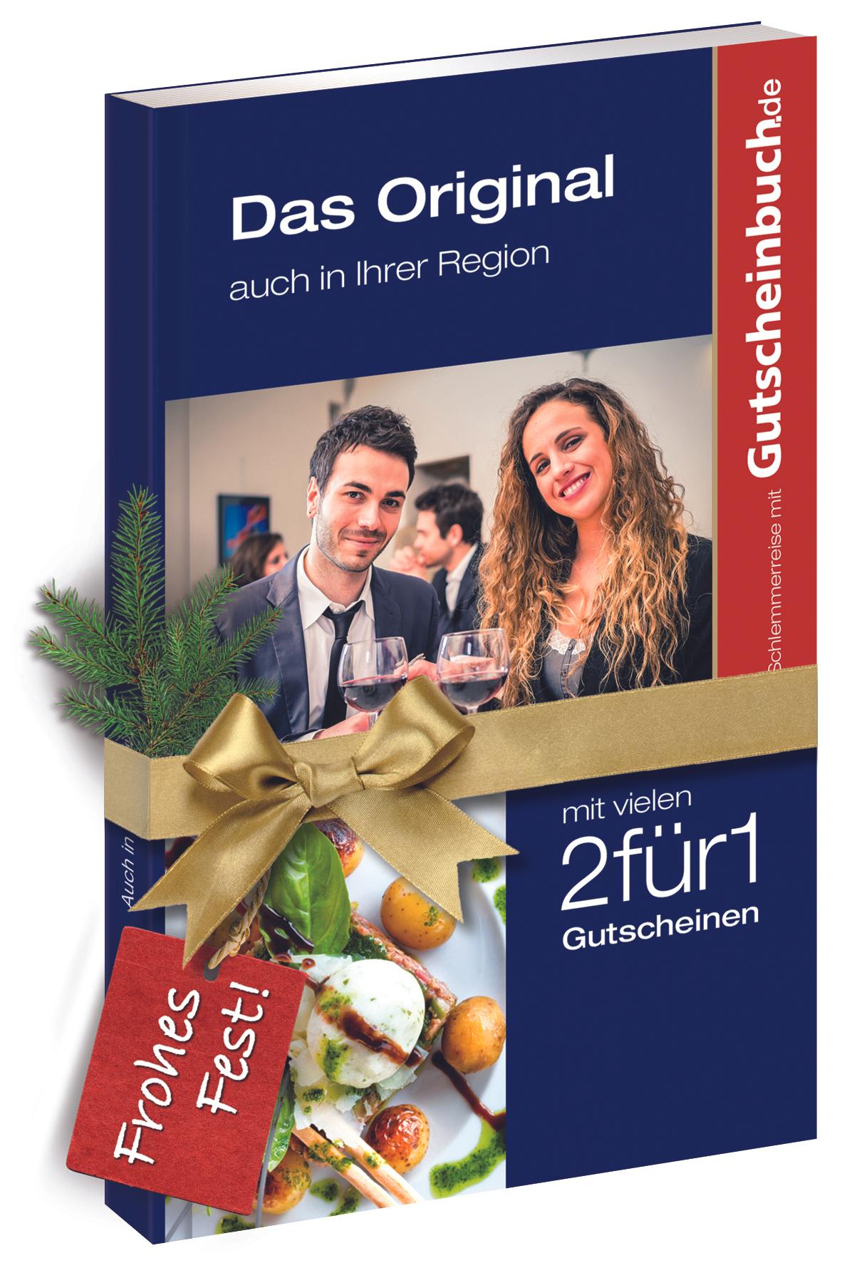 Gutscheinbuch - viele Regionen mit bis zu 50 % Rabatt (ab 9,99 €) - Versand gratis ab 3 Büchern