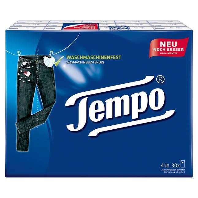 @Rossmann Tempo Taschentücher 300 Stück 30x 10 Tücher 4-lagig, waschmaschinenfest, dermatologisch getestet