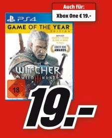 [Mediamarkt] The Witcher 3: Wild Hunt Game of the Year Edition (Playstation 4 und Xbox One] für je 19,-€*Preis bei Abolung*