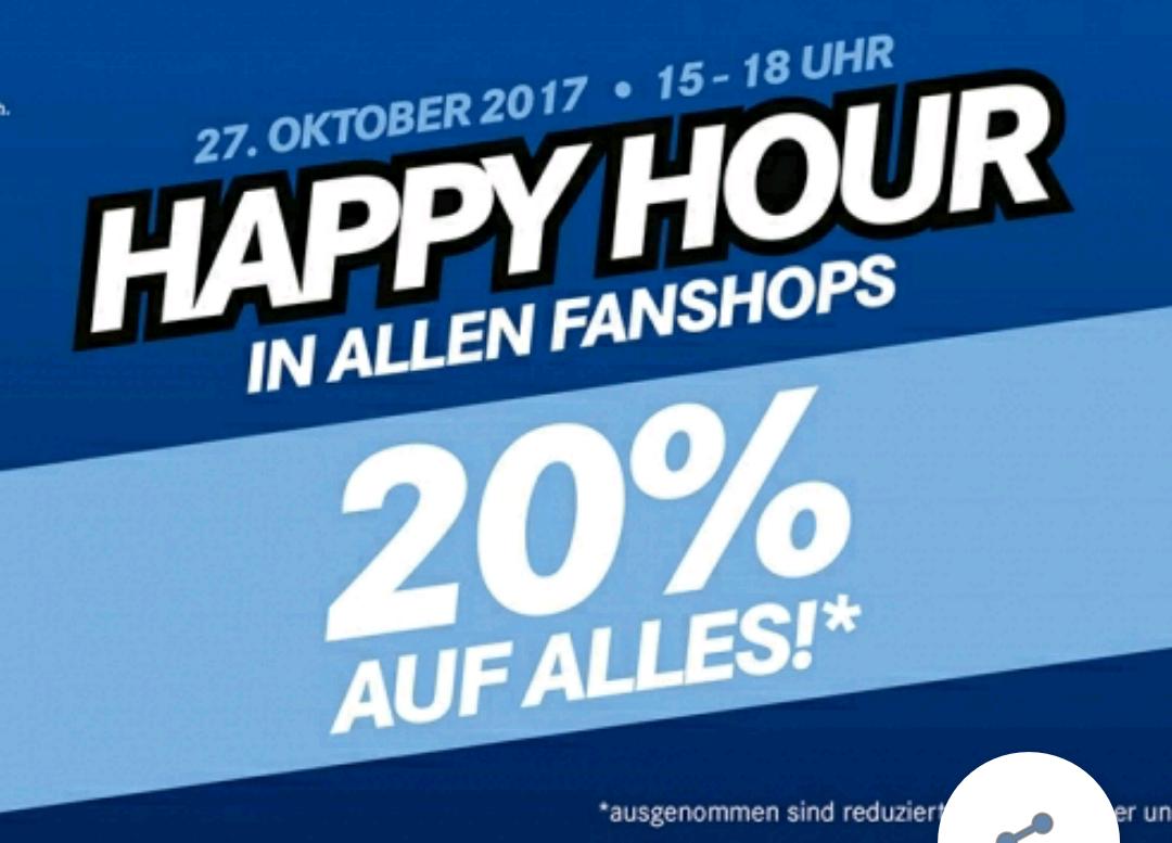 Vorankündigung ***  20% Auf alles im Schalke Fan Shop [sowohl Off als auch Online]*** Von 15-18 Uhr! + 30% Rabatt auf alle Schalke Festina Uhren (nicht kombinierbar)!!