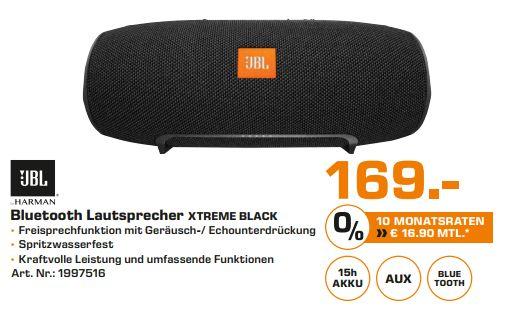 [Lokal Saturn Kiel] JBL Xtreme Schwarz Bluetooth Lautsprecher für 169,-€