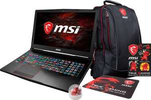 "[notebook-shop-darmstadt@eBay]  MSI GE63VR 7RE-034 Raider 15.6"" Full HD Gaming Notebook (i7-7700HQ, 16GB RAM, 1TB HDD, 128GB SSD, GeForce GTX1060 6GB, IPS, 120Hz, Win10 Home x64) inkl. Gaming-Bundle (Rucksack, Mousepad, Lucky)"