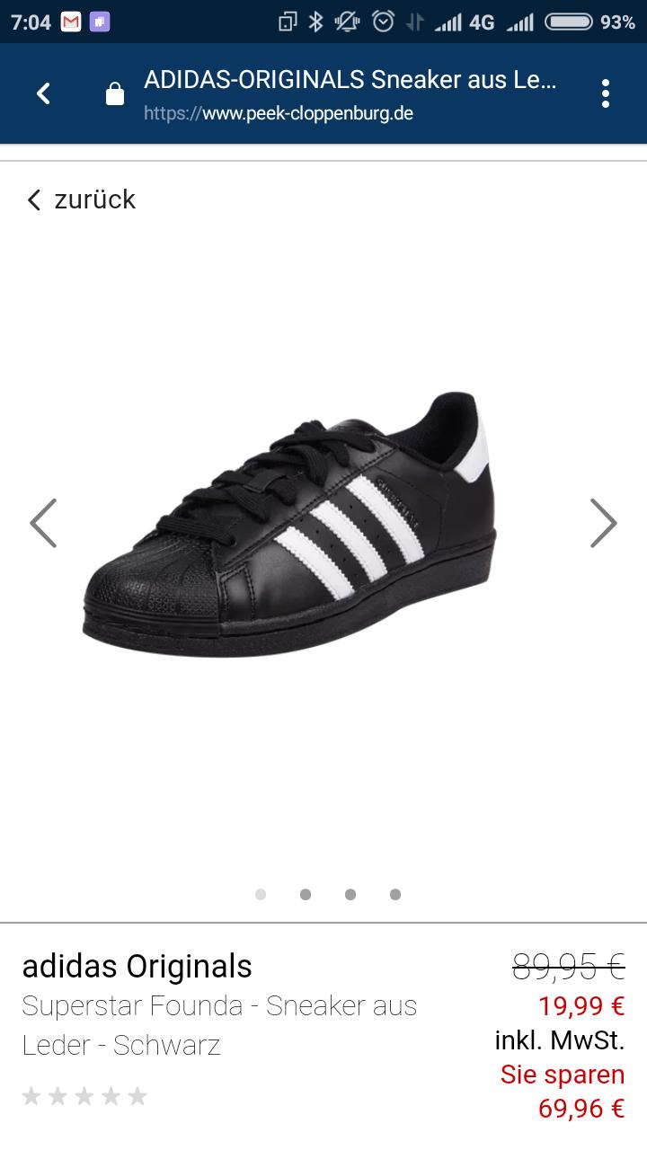 Adidas Superstar Foundation core black/white ab €19,99 bei peek-cloppenburg.de