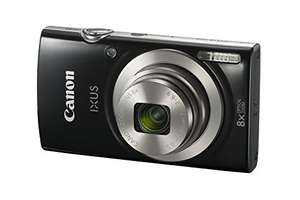 [Amazon oder Saturn] Canon IXUS 185 Digitalkamera (20 Megapixel, 8x optischer Zoom, 6,8 cm (2,7 Zoll) LCD Display, HD Movies) schwarz oder rot