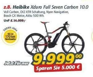 [Lokal offline] Haibike XDURO FullSeven Carbon 10.0 E-Mountainbike @Rad&Tat Kamen am 28. und 30.10.2017