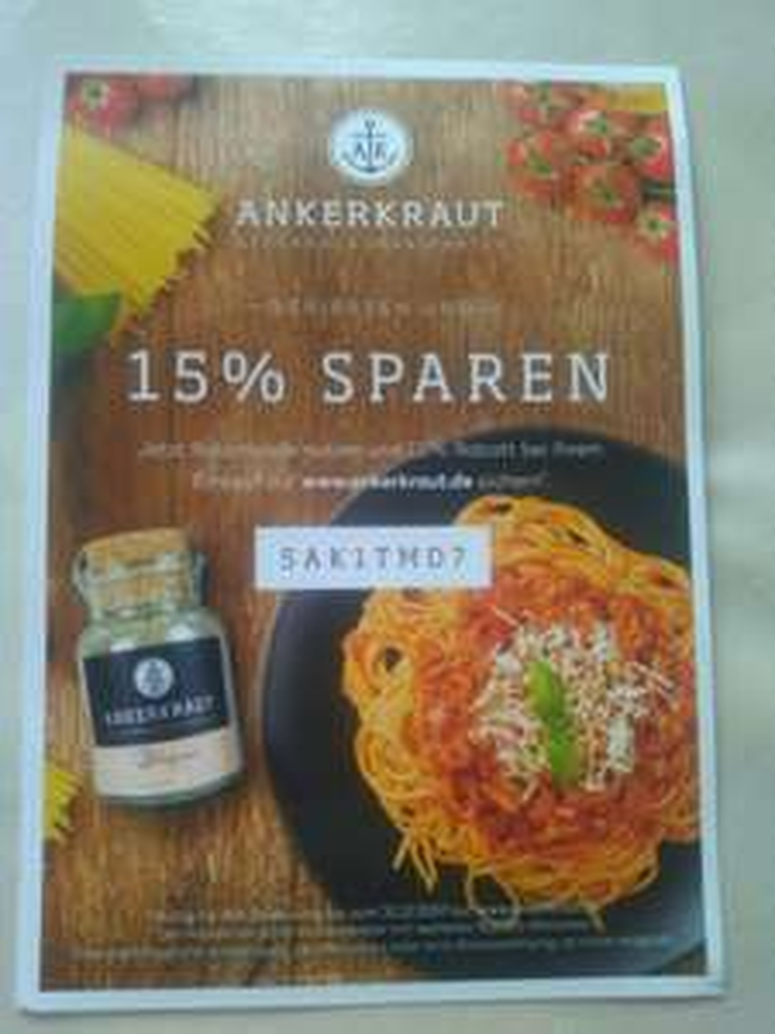 15% auf alles bei Ankerkraut.de