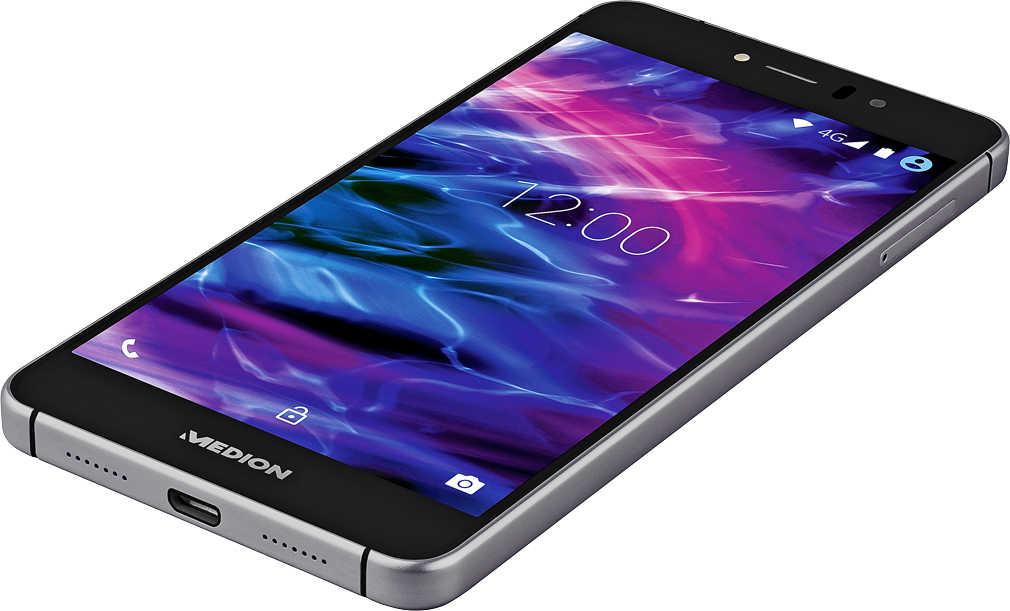 Ab 02.11. Medion X5020 Smartphone (5 Zoll) Full-HD, 13 Megapixel Kamera, Octa-Core-Prozessor, Dual-SIM, 32GB interner Speicher, Android Lollipop 5.1) schwarz für 129€ [Kaufland]