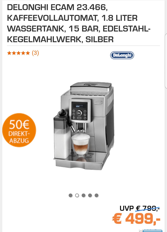 Delonghi Ecam 23.466s Kaffeevollautomat für 449€