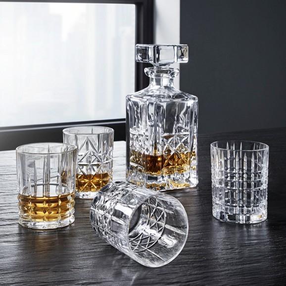 Whiskeyset: Karaffe und 4 Gläser von Nachtmann (Riedel Glassworks/Spiegelau)