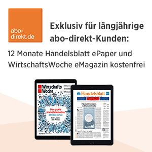 12 Monate Handelsblatt und Wirtschaftswoche eMagazin kostenlos und unverbindlich