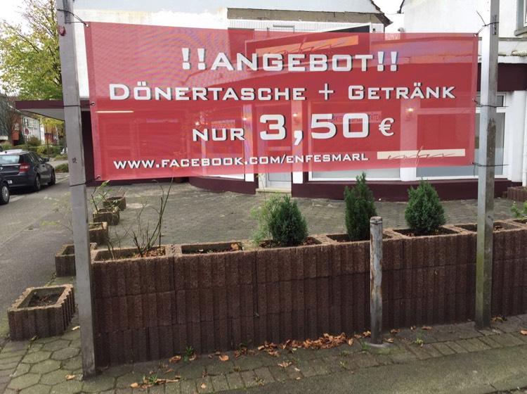 [Lokal Marl] Dönertasche + Getränk 3,50€