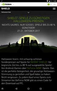 Nvidia Shield Halloween Game Angebote