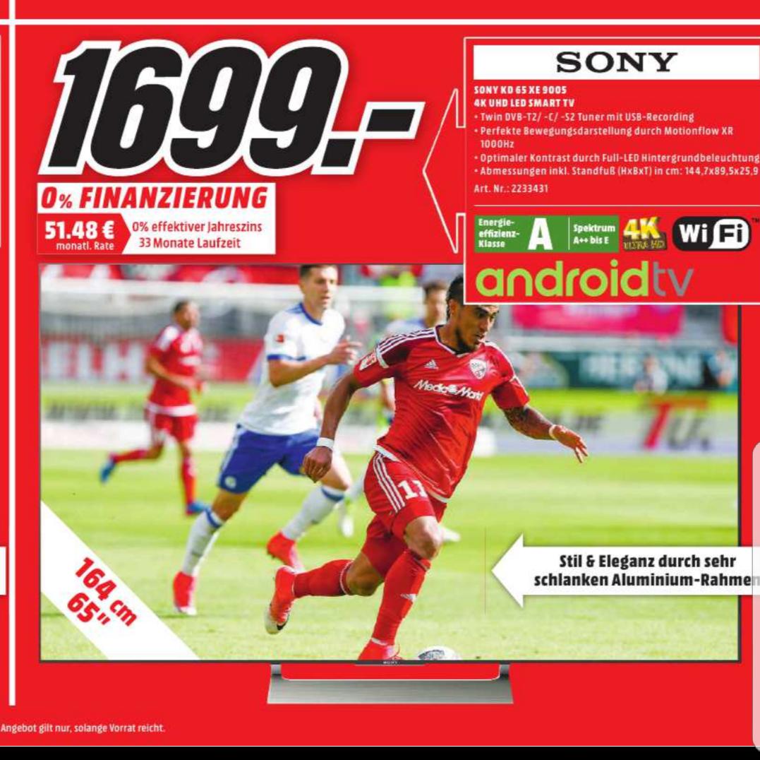 Lokal Bonn/Bornheim- Sony 65 XE9005