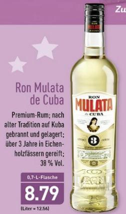 Aldi-Nord - Ron Mulata de Cuba - 3jährig, 0,7l-Flasche