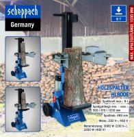 Scheppach Kombi Paket XXL Holzspalter HL800e + Elektro-Kettensäge CSH2400-160E