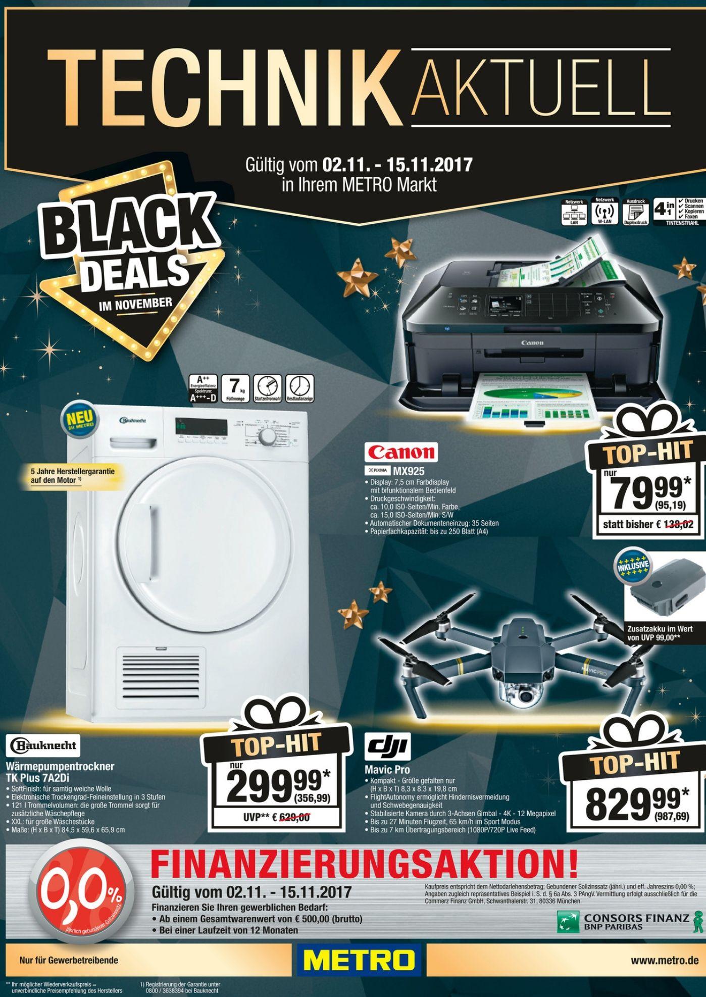 [Metro] Black Deals im November + DJI Mavic Pro + 2,5 HDD und vieles mehr