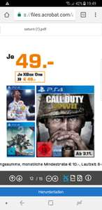 Lokal Saturn Hamburg Call of Duty WWII 49€
