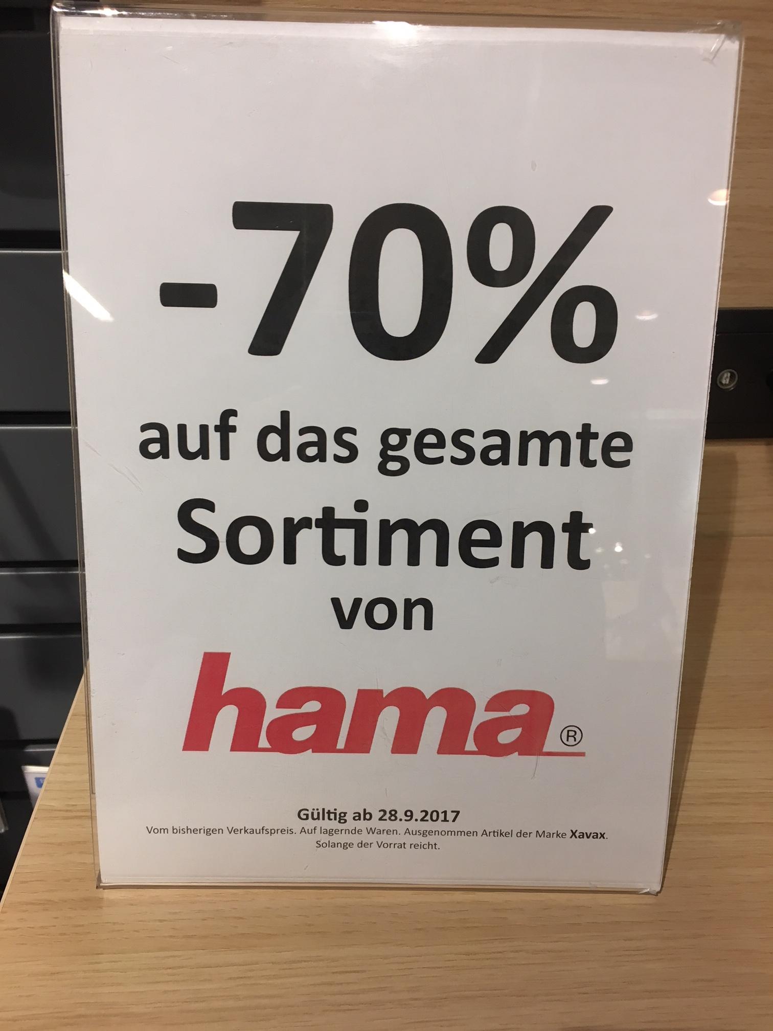 Kika hat -70% auf Hama Zubehör (Österreichweit)