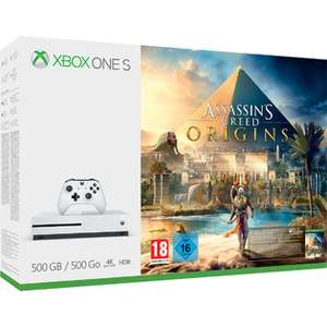 Xbox One S (500GB) Assassin's Creed Origins Bundle + Dishonored 2 + Fallout 4 (inkl. Fallout 3) für 262€ (Shopto)