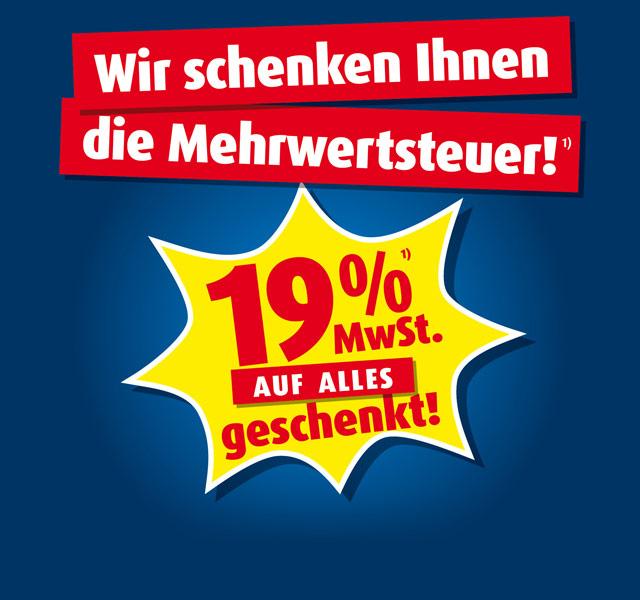 Roller 19% Mehrwertsteuer geschenkt
