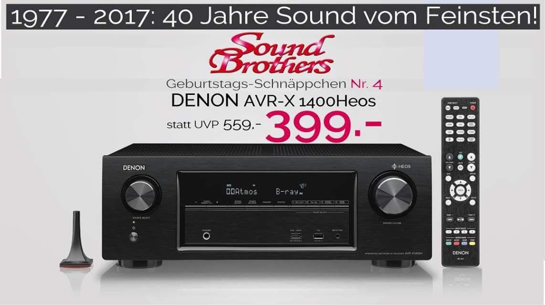 Lokal / offline: DENON AVR-X1400H bei Soundbrothers Kassel