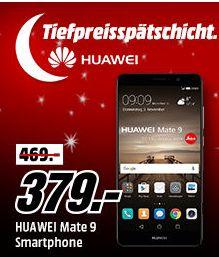 """Huawei Mate 9 Smartphone 64 GB 4G 12 MP 5.9"""" Kirin 960 Android 7.0 Schwarz für 379,-€ versandkostenfrei [Mediamarkt/Ebay]"""