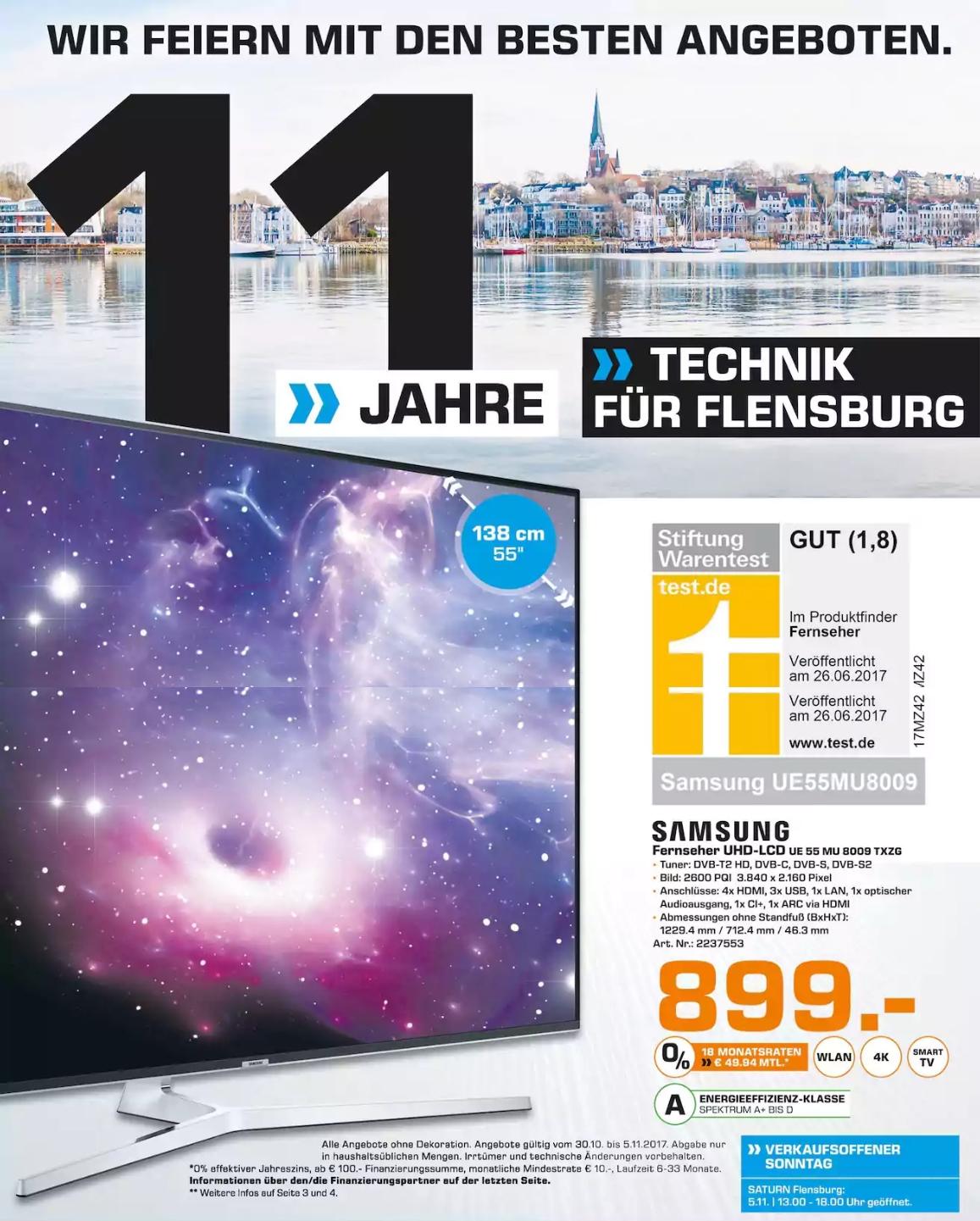 [LOKAL | Saturn | Flensburg] Samsung UE55MU8009 UHD TV