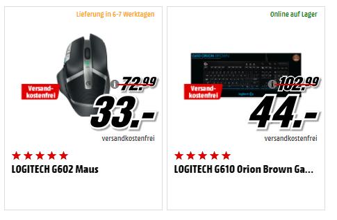 """Mediamarkt TPSS - Logitech G610 """"brown"""" für 44,- und G602 für 33,-"""