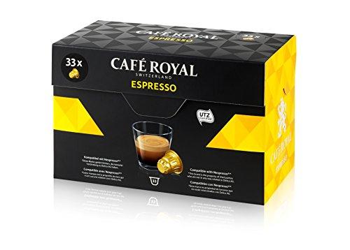 [Amazon Plus] Café Royal Espresso 33 Kapseln, 33 kompatible Kapseln für Nespresso, 1er Pack (1 x 33 Kapseln) (0,17 EUR / Kapsel)