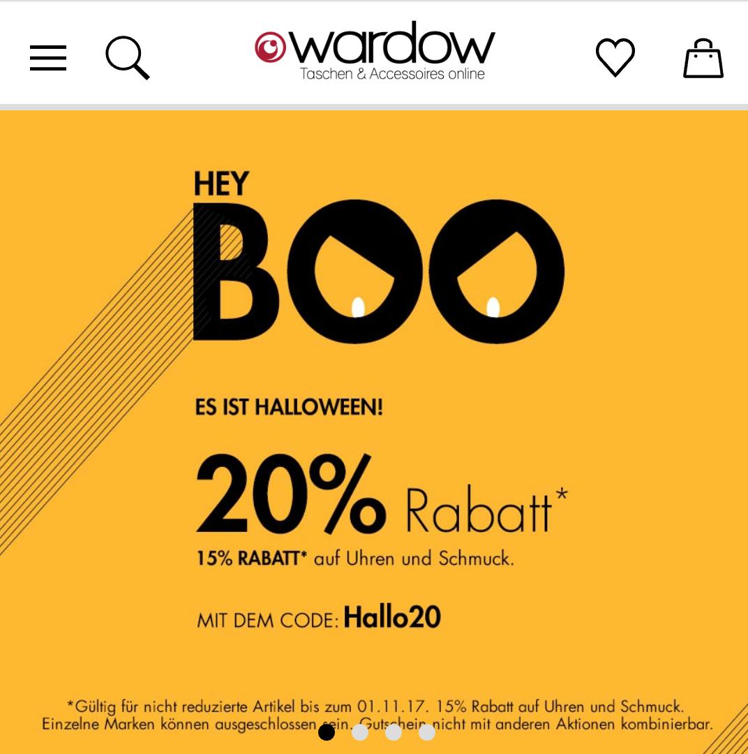 Happy Halloween bei Wardow.com mit 20%