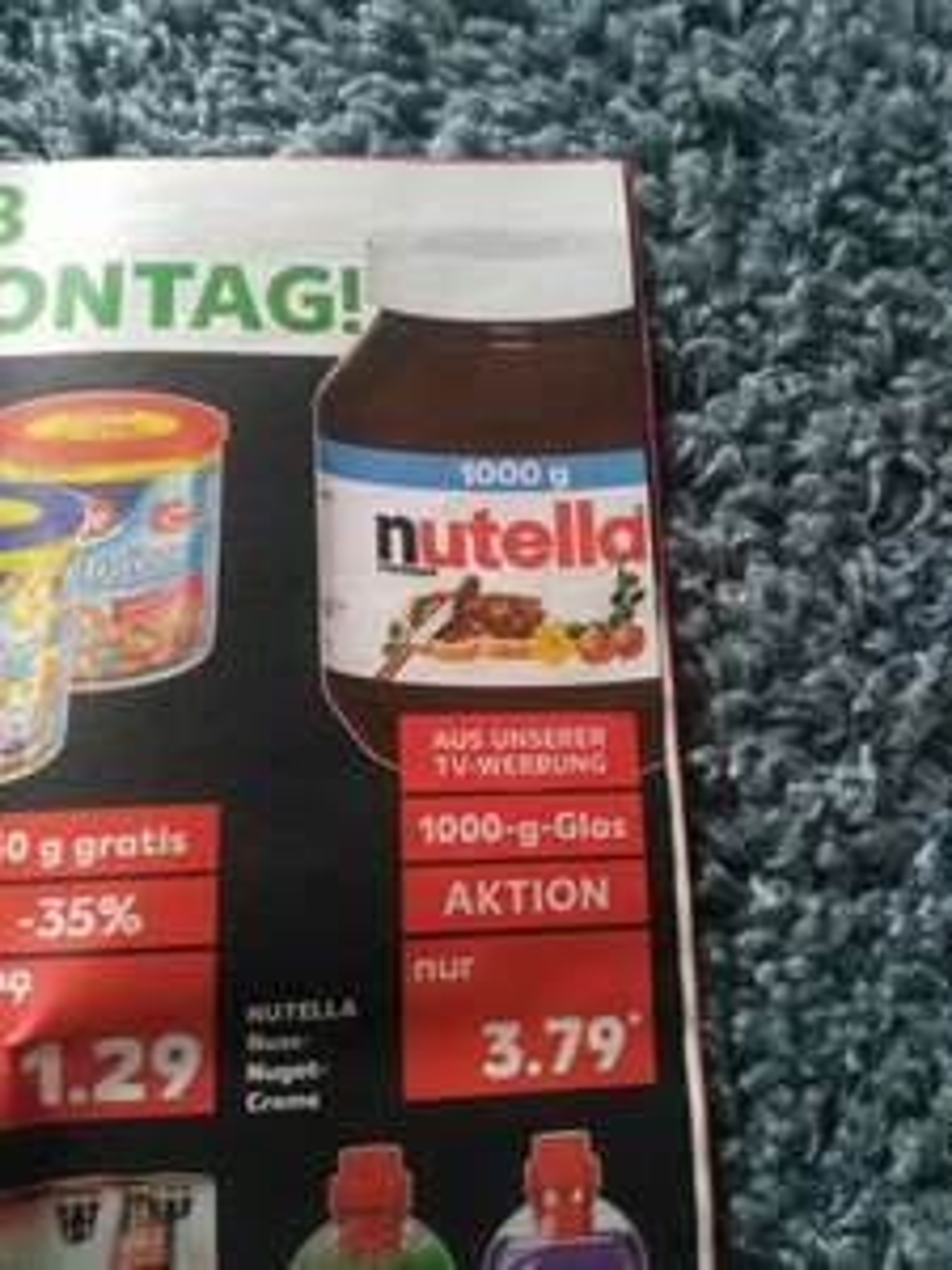 Nutella Kaufland 1kg ab Montag 06.11.