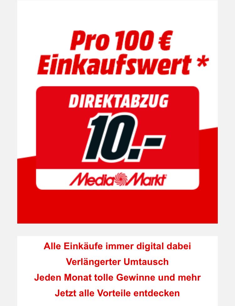 Media Markt HH Hummelsbüttel 03.11.17 je 100€ Einkaufswert 10€ Rabatt für Club Kunden