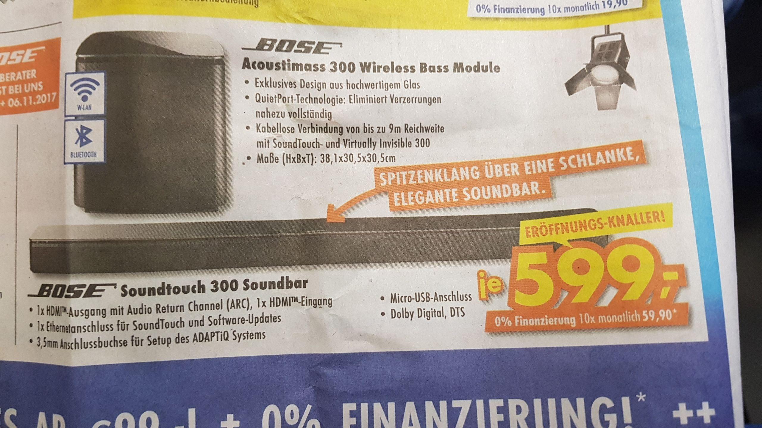 [Euronics] Bose Soundtouch 300 & Bose Acoustimass 300 für je 599€!