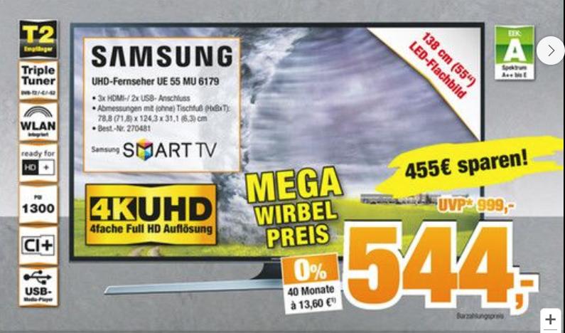 [Expert Oldenburg Neueröffnung] einige nette Angebote // z.B. Samsung UE 55 MU 6179