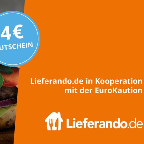 4€ Lieferando Gutschein mit 12€ MBW von EuroKaution