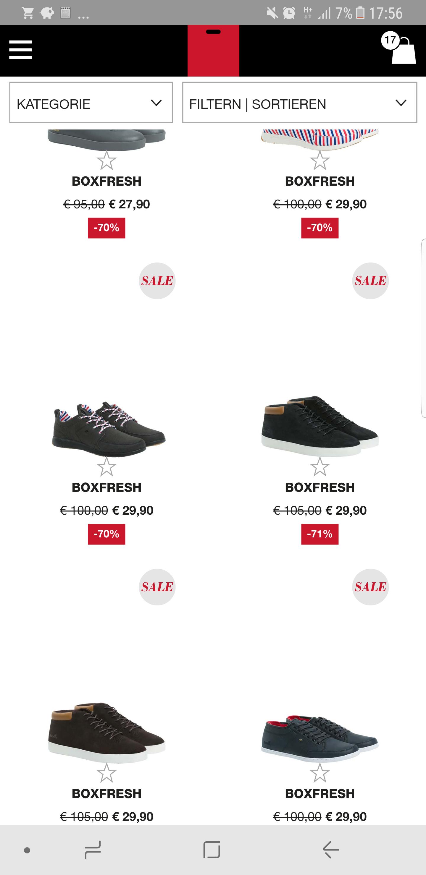 Boxfresh Schuhe verschiede Modele und Größen ab 27,90 zuzüglich 4,90 Versandkosten