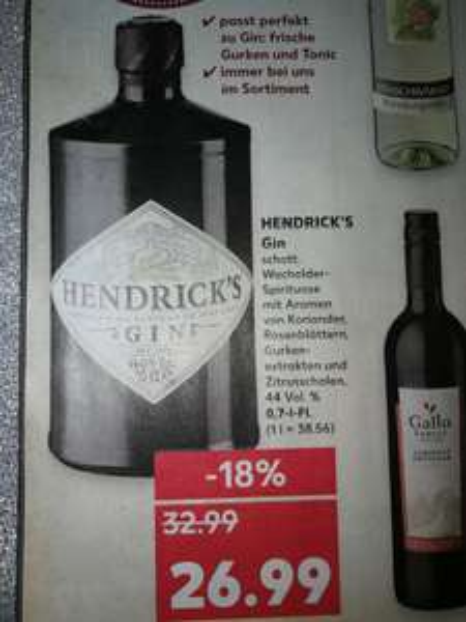 (Kaufland bundesweit) Hendricks Gin 0,7 ab 02.11.