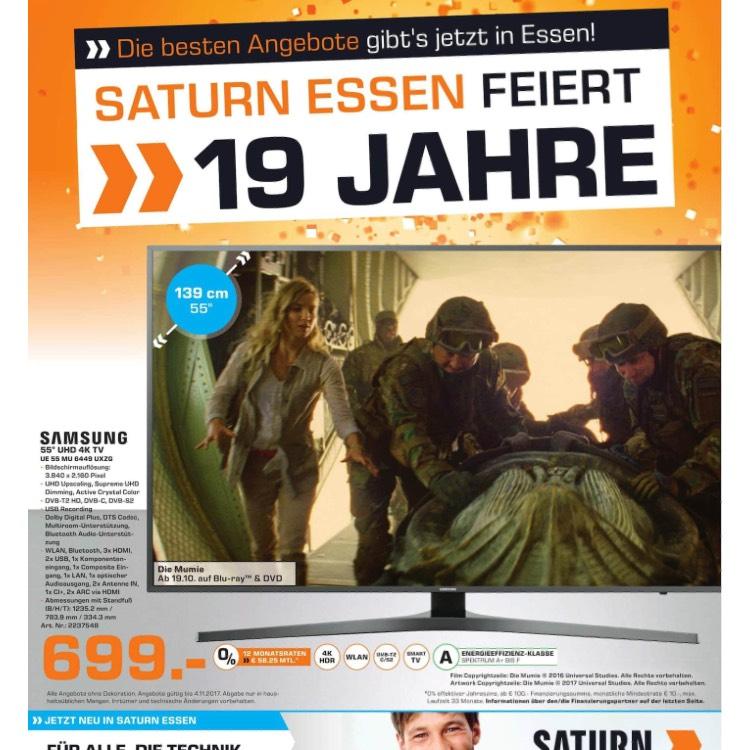 Saturn Essen feiert 19. Geburtstag - Samsung UE55MU6449
